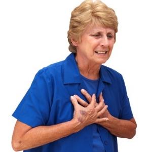 Douleur constrictive dans la poitrine