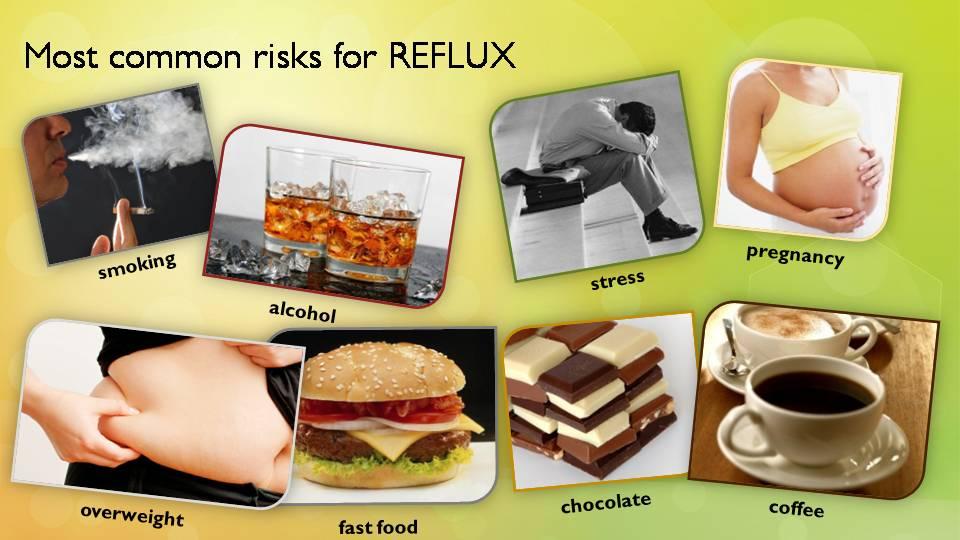 Les facteurs à risque pour le reflux